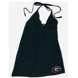 Georgia Bulldogs Rhinestone Halter Dress Dawgs New
